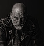 Tough guy in Leather Stock Photography