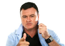 Tough Guy Pointing Stock Photography