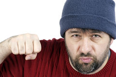 Tough guy punching Stock Photos