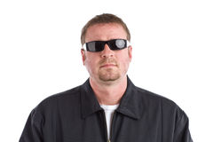 Tough Guy Wearing Sunglasses Royalty Free Stock Photography