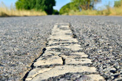 Tough, hard asphalt road, as a way of civilization Stock Photo