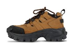 Tough hiking shoes Stock Images