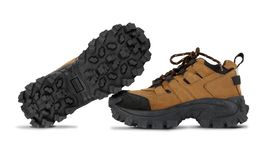 Tough hiking shoes Royalty Free Stock Image