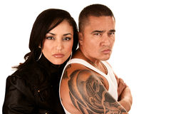 Tough Hispanic Couple Stock Images
