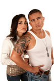 Tough Hispanic Couple Stock Photos