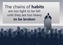Change bad habits. Tough job ahead to change bad habits Stock Photo
