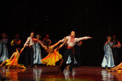 Tough Kazakh man-the Austria's world Dance Stock Photos