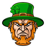Tough Leprechaun Macot Stock Photos