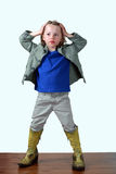 Tough little boy Stock Photography