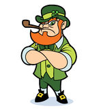A tough looking leprechaun. A tough looking cartoon leprechaun, standing with arms crossed Royalty Free Stock Photos