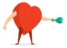 Tough love or menacing heart swinging a broken glass bottle Stock Photos