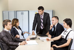 Tough meeting Stock Images