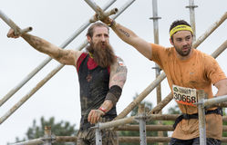 Tough Mudder 2015: Beardman King of Swingers Royalty Free Stock Photos