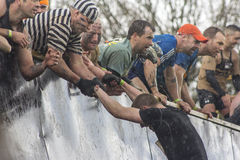 Tough Mudder 2013 - Everest in the Hail Stock Image