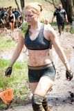 Tough Mudder: Female Racer Royalty Free Stock Photography