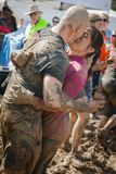 Tough Mudder: Muddy Engagment Stock Images