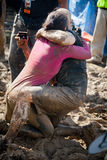 Tough Mudder: Muddy Wedding Proposal Royalty Free Stock Photography