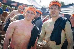 Tough Mudder: Proud Runners After the Race Royalty Free Stock Images