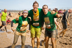 Tough Mudder: Proud Team of Racers Having Fun Royalty Free Stock Images