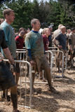 Tough Mudder: Racers Waiting for their Turn Royalty Free Stock Images
