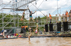 Tough Mudder 2015: Swingers Stock Image