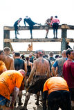Tough Mudder: Teamwork Will Get them Through The W Stock Photo
