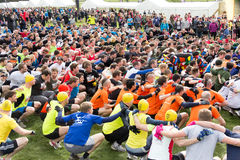 Tough Mudder 2013 Warm-up Squats Stock Images