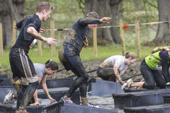 Tough Mudder 2013 - Water Hazard Stock Photo