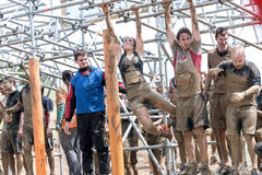 Tough Muddger 2015: Tight Lipped Royalty Free Stock Photos