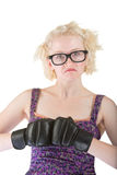 Tough Nerd in Dress Royalty Free Stock Images