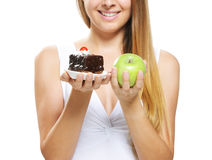 Tough Nutrition Choices Stock Photography