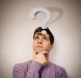 Tough question Royalty Free Stock Photos