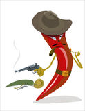 Tough red chili pepper gangster Stock Photo