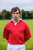 Tough rugby player ready to play Stock Photos