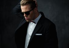 Tough sharp dressed man Stock Photos