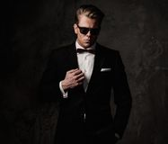 Tough sharp dressed man Royalty Free Stock Photo