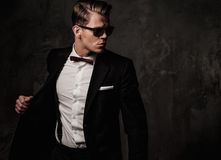 Tough sharp dressed man Stock Photography