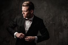 Tough sharp dressed man Royalty Free Stock Photos