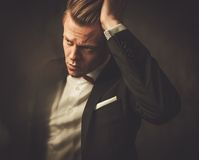Tough sharp dressed man Royalty Free Stock Photography
