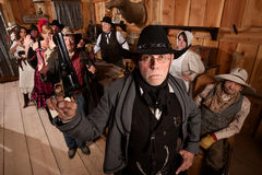 Tough Sheriff in Saloon Stock Images