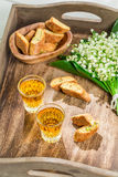 Tough and sweet cantucci with Vin Santo Stock Photo