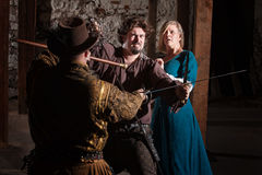 Medieval Sword Fight Royalty Free Stock Photography