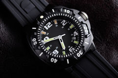 Tough Wristwatch. Still life picture of military wristwatch Royalty Free Stock Photo