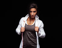 Tough young fitness woman Stock Photo