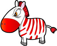Tough Zebra Vector. Nasty Tough Zebra Vector Illustration Art Royalty Free Stock Photos