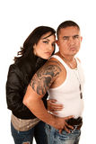 Tought Hispanic Couple Royalty Free Stock Photography