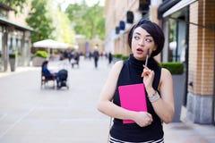 Toughtful girl Stock Photo