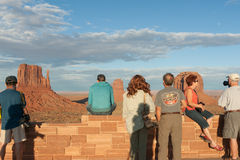 Touirists taking in the view in Monument Valley Royalty Free Stock Images