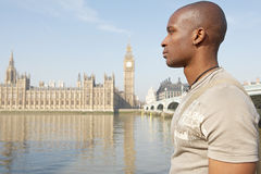 Touist man on Westminster. Stock Images