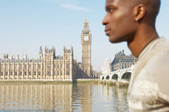 Touist man on Westminster. Stock Photography